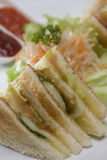 Sandwich bar. With salad inside Stock Image