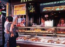 Sandwich bar, Paris. Royalty Free Stock Images