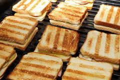 Sandwich on Barbecue Grill Stock Images
