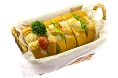 Sandwich in the basket Stock Photo