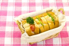 Sandwich in the basket Royalty Free Stock Photography