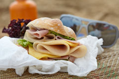 Sandwich on a beach Royalty Free Stock Image