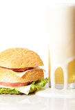 Sandwich and beer Stock Images