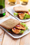 Sandwich and beer Royalty Free Stock Photo