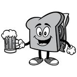 Sandwich with Beer Illustration Stock Image