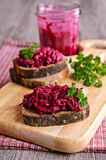 Sandwich with beet Royalty Free Stock Photo