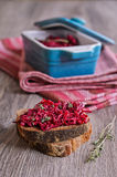 Sandwich with beet Royalty Free Stock Images