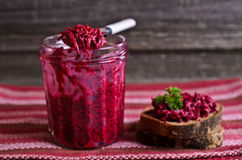 Sandwich with beet Royalty Free Stock Image