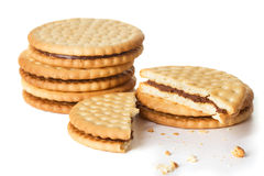 Sandwich biscuit cookies Royalty Free Stock Photos