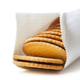 Sandwich biscuit in package Stock Images