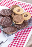 Sandwich biscuits Royalty Free Stock Photo