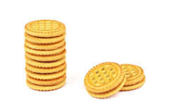 Sandwich biscuits with chocolate filling Royalty Free Stock Image