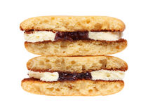 Sandwich biscuits with cream Royalty Free Stock Photography