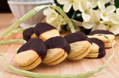 Sandwich biscuits royalty free stock images