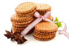 Sandwich biscuits with vanilla Royalty Free Stock Images