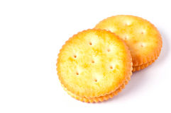 Sandwich biscuits on a white background Stock Images