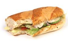 Sandwich bite Stock Photography