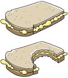 Sandwich Bite Royalty Free Stock Images