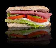 Sandwich on black background Royalty Free Stock Image