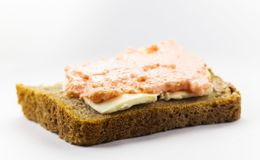 Sandwich of black bread Stock Photos