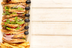 Sandwich and blank space Royalty Free Stock Photo