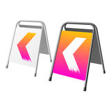 Sandwich board. Vector illustration of a sandwich board Royalty Free Stock Images