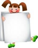 Sandwich Board Girl Stock Image