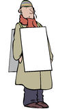 Sandwich board man Royalty Free Stock Photography