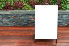 Sandwich board mock up outdoor advertising template. royalty free stock photography