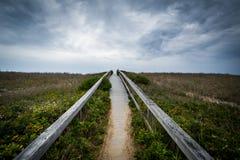 The Sandwich Boardwalk, in Sandwich, Cape Cod, Massachusetts. Royalty Free Stock Image