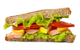 Sandwich with boiled red fish Royalty Free Stock Photo
