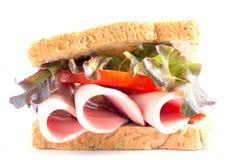 Sandwich bologna sausage Stock Photography