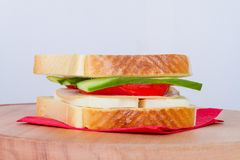 Sandwich Bread with Cheese and Tomato Royalty Free Stock Image