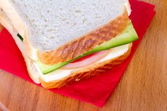 Sandwich Bread with Cheese and Tomato Stock Photo