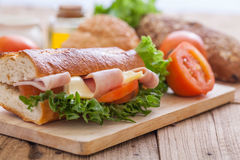 Sandwich  with bread Royalty Free Stock Image