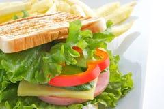Sandwich for breakfast Stock Images