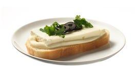 Sandwich with bryndza Stock Photo