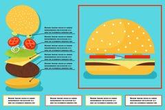 Sandwich burger hamburger ingredients structure Stock Photos