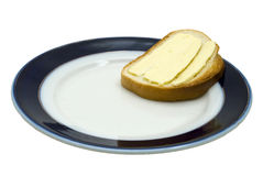 Sandwich with butter. Tasty sandwich with butter on the plate royalty free stock photography