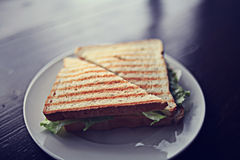 Sandwich  on cafe table Stock Photography
