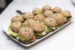 Sandwich Canapes Stockbild