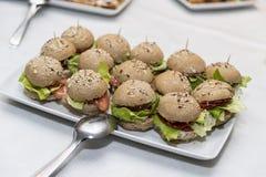 Sandwich Canapes Stockfotografie