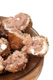 Sandwich with canned tuna fish and white cream Royalty Free Stock Image