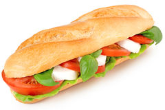 Sandwich with caprese salad Stock Images