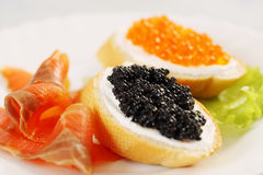 Sandwich with caviar Royalty Free Stock Image