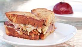 Sandwich chaleureux à épicerie Photographie stock