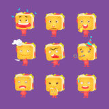 Sandwich Character Set Royalty Free Stock Photography
