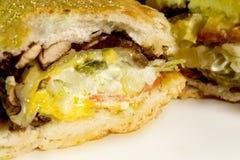 Sandwich chaud et frais Photographie stock