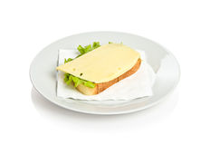 Sandwich with cheese Stock Photos