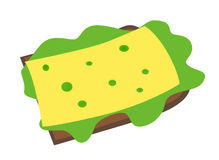 Sandwich with cheese Royalty Free Stock Photography